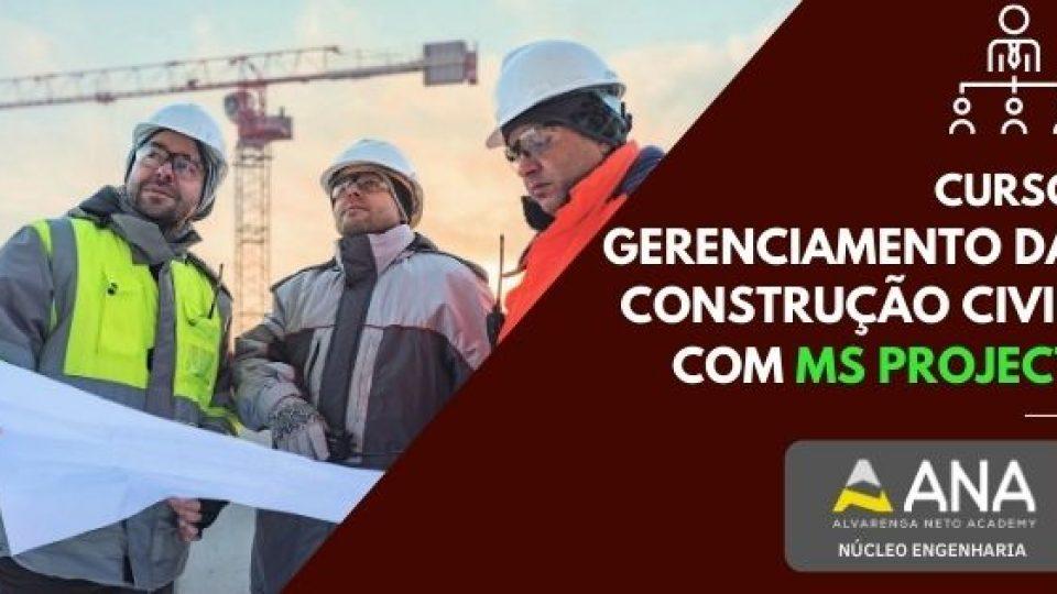 Curso Gerenciamento da Construção Civil com MS Project